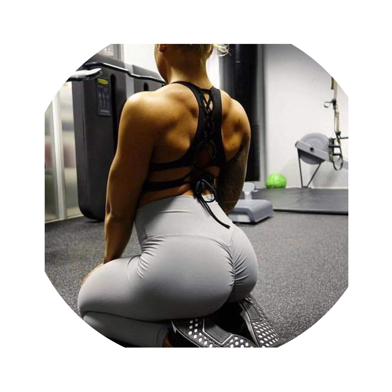 Amazon.com: Gym Leggings Sport Fitness Yoga Pants High Waist ...