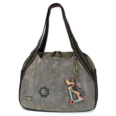 7f9628e786 Image Unavailable. Image not available for. Color: Chala Weiner Dog on Scooter  Bowling Bag, Stone Gray