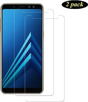 DOSMUNG Protector de Pantalla para Samsung Galaxy A8 2018, [2 Pack] Full-Cover Cristal Templado para Samsung A8 2018, Alta Definicion, 9H Dureza, Resistente a Arañazos, Vidrio Templado para A8 2018: Amazon.es: Electrónica