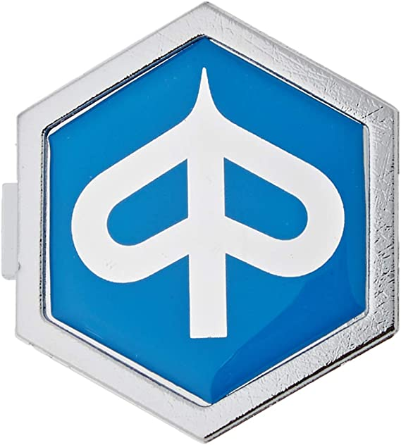 Emblem Piaggio 6 Eck Kaskade Für Vespa Px T5 Et2 Et4 Etc Aluminium Z Stecken 32x37 Mm Auto