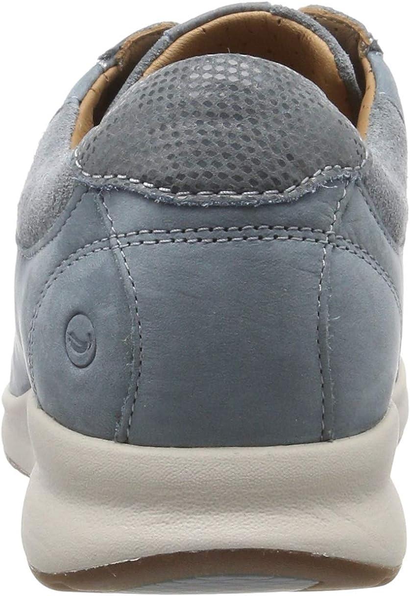 Clarks Un Adorn Lace Nubuck Shoes in Blue Blue Grey ML61KX