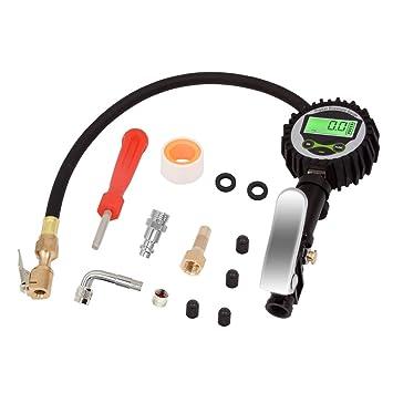 Mookis Manómetro Digital, Digital Elétrico Inflador de Neumático 200PSI con Manómetro para Compresor de Aire