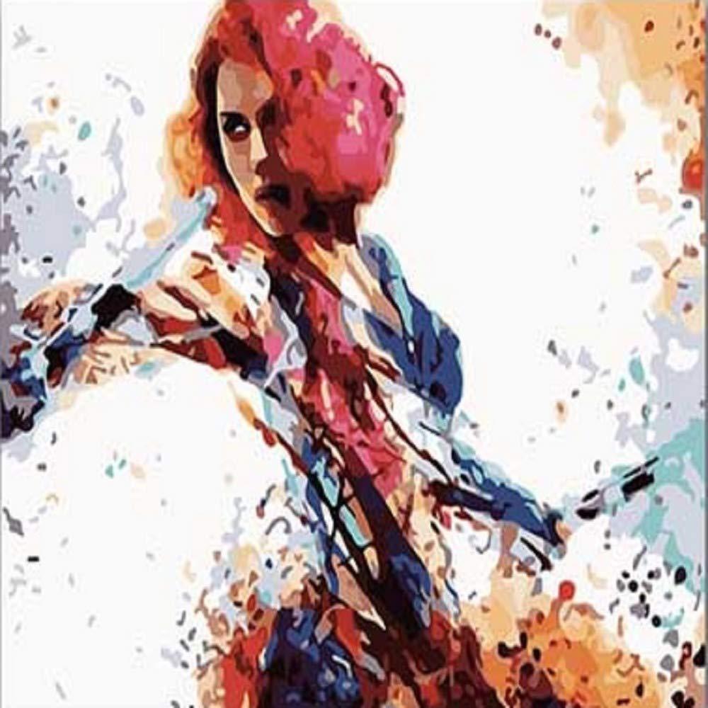 DAIMEND 5D DIY Diamant Malerei DIY F/ärbungen Bilder nach Zahlen mit Farben Black Widow The Avengers Bild Zeichnung Malen nach Zahlen gerahmt nach Hause,40x50cm