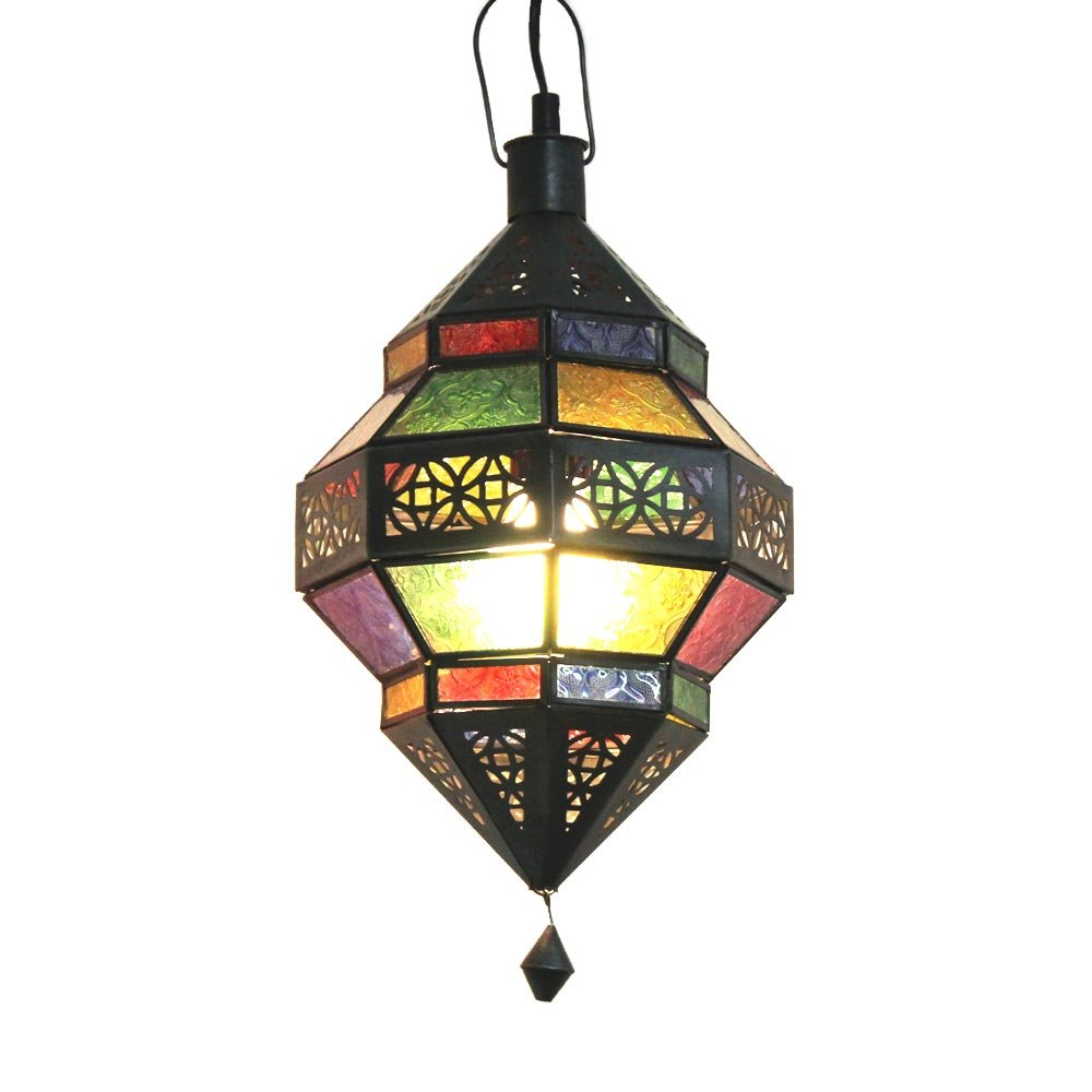 Albena Marokko Galerie 13-131 Trob orientalische Lampe Glas Metall (bunt)