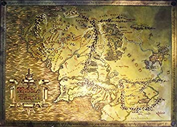 Amazoncom The Lord Of The Rings  The Hobbit  Map Of Middle