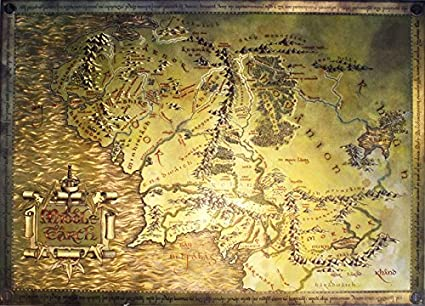 Amazon Com The Lord Of The Rings The Hobbit Map Of Middle Earth