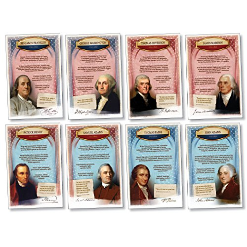 Patriotic Symbols Bulletin Board - North Star Teacher Resource NST3075 America's Founders Bulletin Board Set, Set of 8 Posters