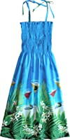 RJC Women's Martini Orchid Hawaiian Smocked Sundress