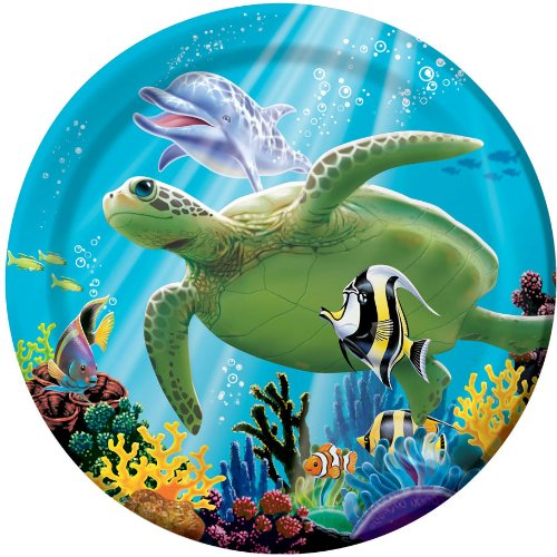 Creative Converting Ocean Party 8 Count Paper Lunch Plates]()