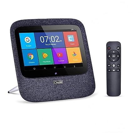Clazio Internet Radio Home Smart Speaker Voice Control Touchable Wireless  Speaker Compatible with Alexa Black