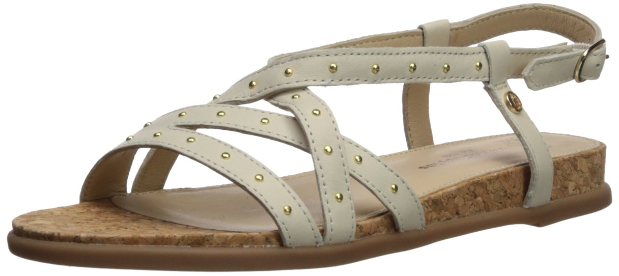 Hush Puppies Women's Dalmatian Pinstud Wedge Sandal B0746WY9H2 7 W US|Ivory