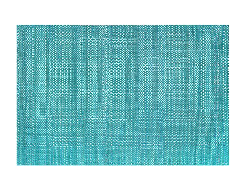Set of 2 Trace Basketweave Vinyl Rectangular Placemat Wipes Clean 13