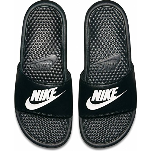 f9c06eee81b88 Nike Mens Benassi JDI Slide Sandal (Black/Black) (10 D(M) US, Black White)