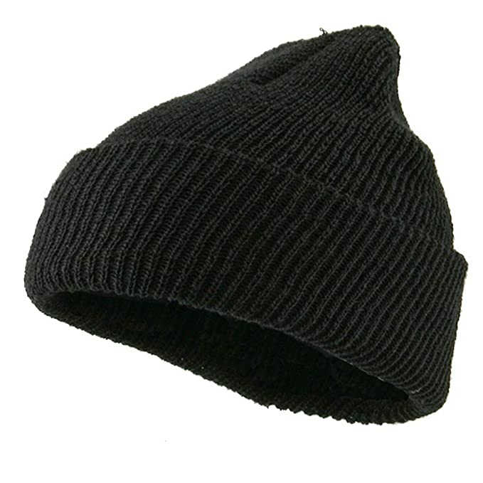 Military Wool Cuff Beanie - Black OSFM at Amazon Men s Clothing ... ffb4dd5b580