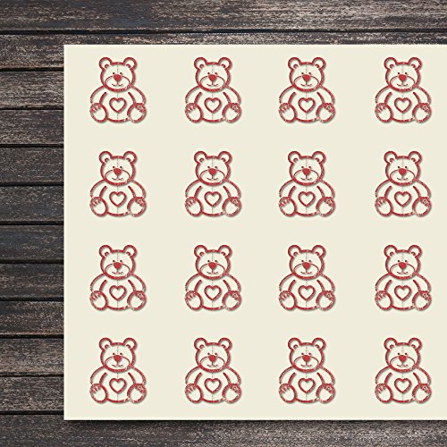 Bear Love Craft Stickers, 44 Stickers at 1.5 inches, Great Shapes for Scrapbook, Party, Seals, DIY Projects, Item 523691 ()