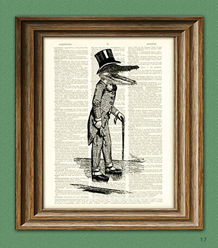 see-you-later-alligator-with-a-suit-and-top-hat-altered-art-dictionary-page-illustration-book-print