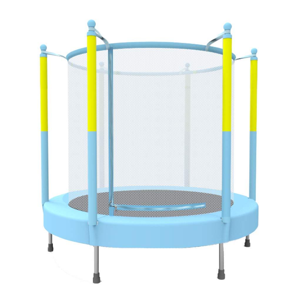 Trampoline Indoor-Haushaltstrampolin Fitness 60 kg tragen (Farbe : Blau, Größe : 140  140  140cm)
