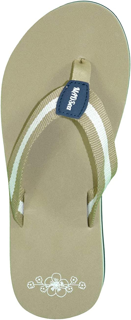 MADSea Summertime High Tongs Flip Flops Femme Marron Beige Multi