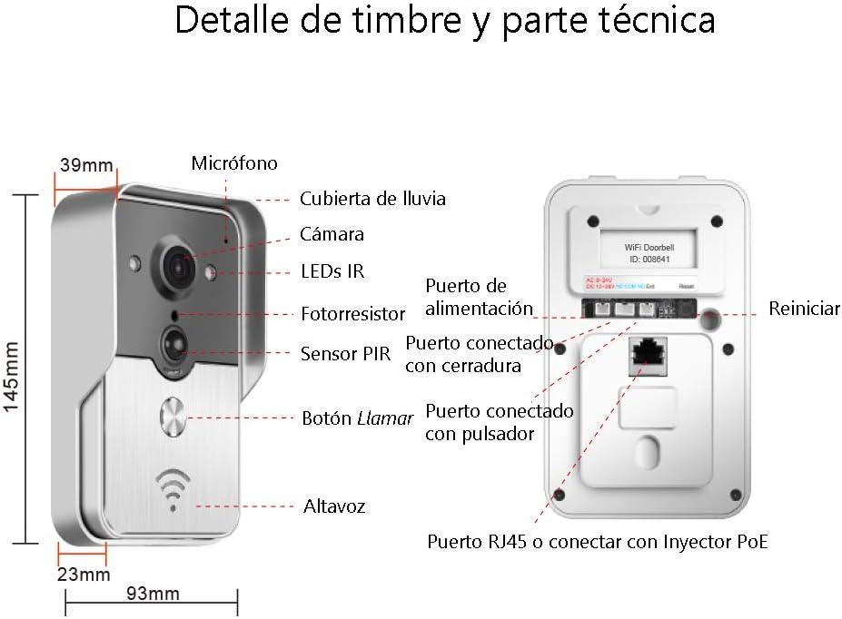 Nudito Kit Videoportero WIFI N1. Interfono Portero Automático de ...