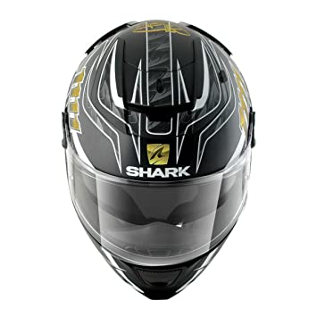 Casco SHARK HE4703EKBSXS : SPEED-R 2 FOGGY Mat 20TH BIR color NEGRO AZUL PLATA