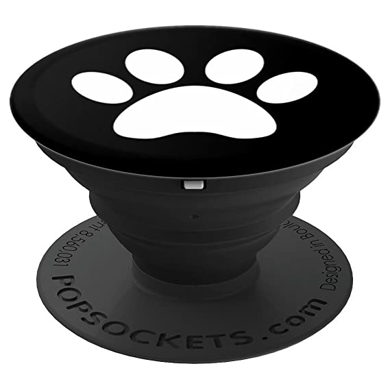 35b1fdcf1512 Amazon.com  Dog Paw Print Dog Lover Dog Walker - PopSockets Grip and ...