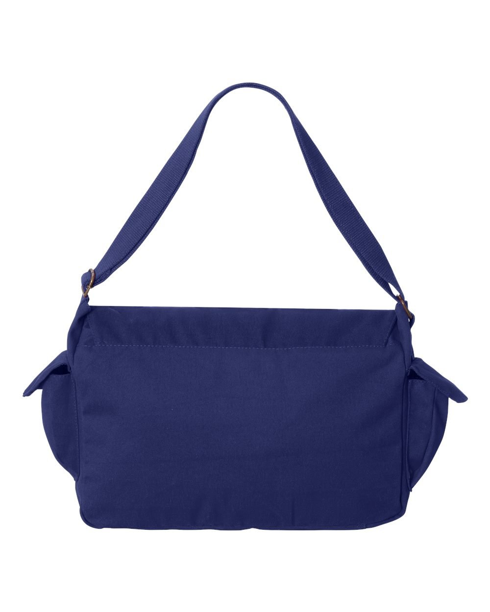 Tenacitee Born in 1949 - Aged Like a Fine Wine Royal Blue Brushed Canvas Messenger Bag by Tenacitee (Image #3)