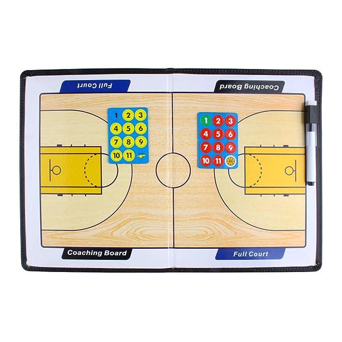 Andux Zone Entrenador Táctica de Baloncesto/Fútbol Carpeta pizarras