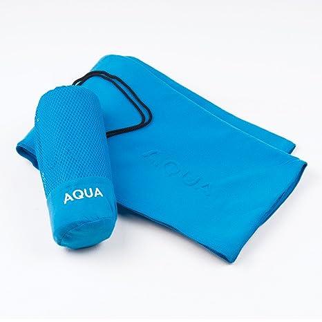 Sancarlos Aqua Toalla Microfibra, Azul, 100X150 cm