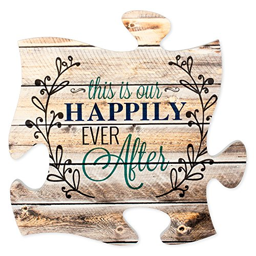 This is Our Happily Ever After 12 x 12 inch Wood Puzzle Piec