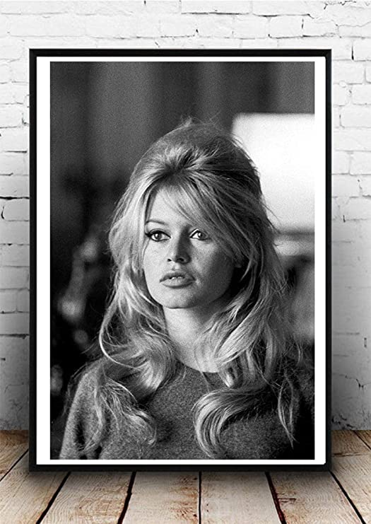 Brigitte Bardot Stretched Canvas Wall Art Movie Poster Print Model Film Actress