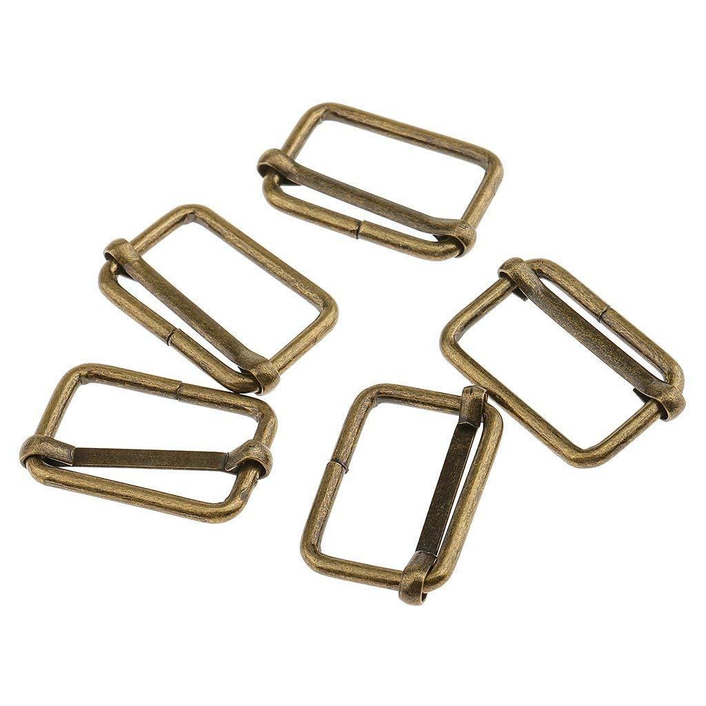 20 Pieces Rectangle Adjuster Roller Pin Buckles Slider Strap for Making Handbag Bronze, 20x13x2.8mm Luggage Bag DIY Accessories Backpack