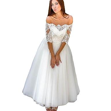 Yuxin Princess Wedding Dresses for Bride Long Sleeve Off Shoulder ...