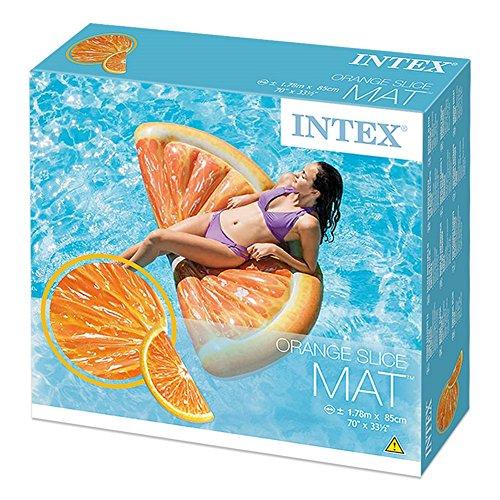 Intex - Colchoneta hinchable naranja - 85 x 178 cm (58763): Amazon.es: Juguetes y juegos