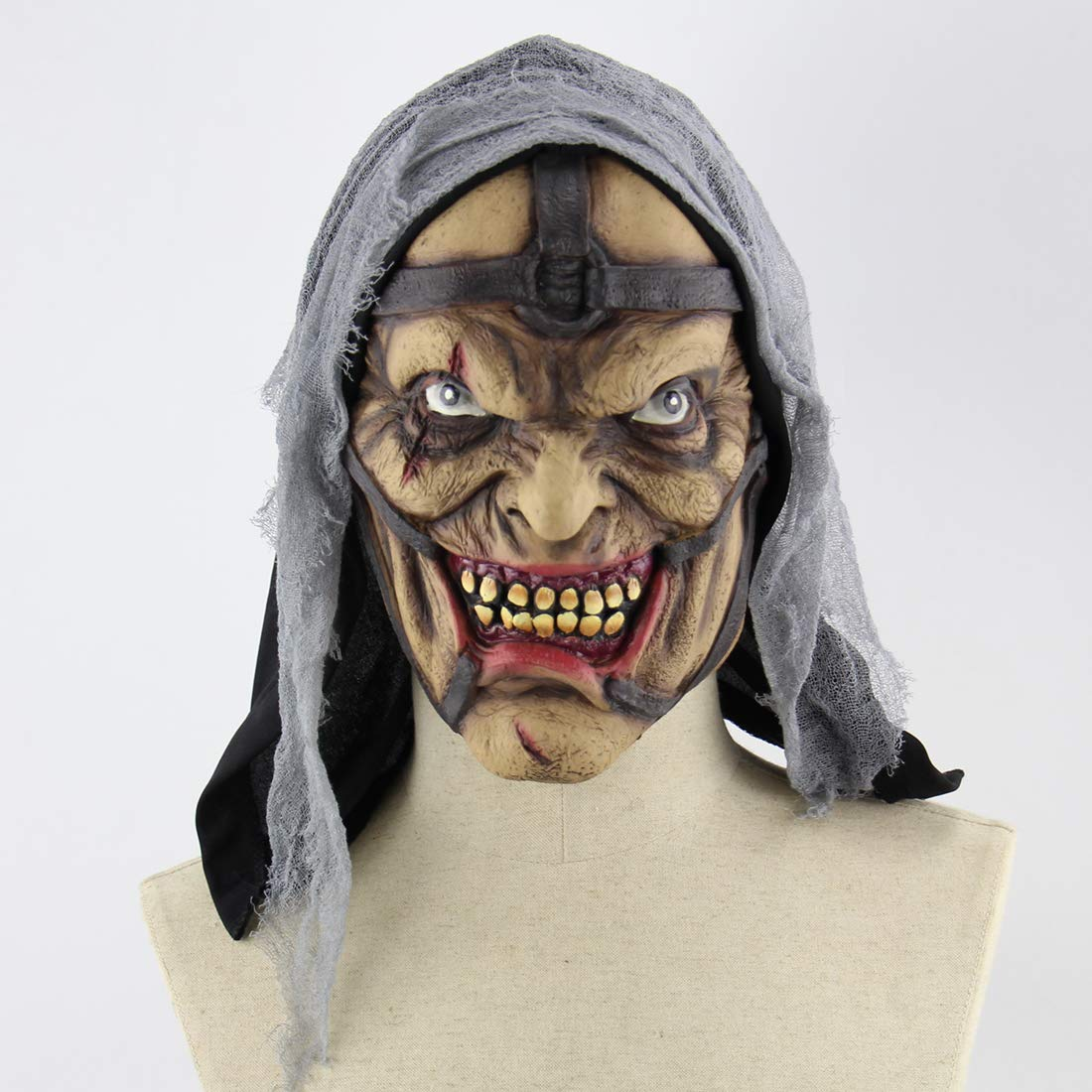 Realistic Scary Halloween Masks.2018 Scary Halloween Mask Realistic Clown Halloween Face Masks With Hair For Adults And Man Halloween Masquerade Cosplay Costume Mask Abnormal Man