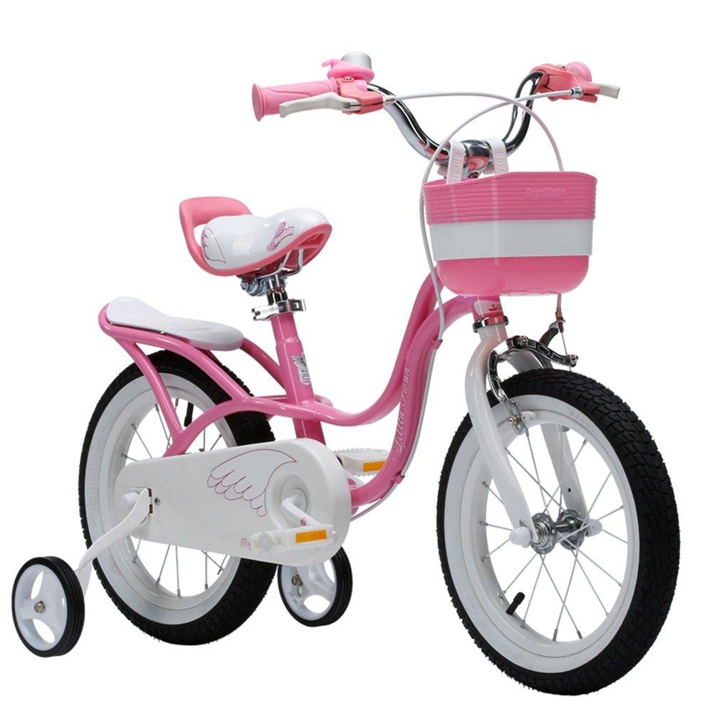 LVZAIXI 子供用自転車 ピンク サイズ12インチ、14インチ、16インチ、18インチ アウトドアアウト (サイズ さいず : 16 inch) B07D56B6PQ 16 inch 16 inch