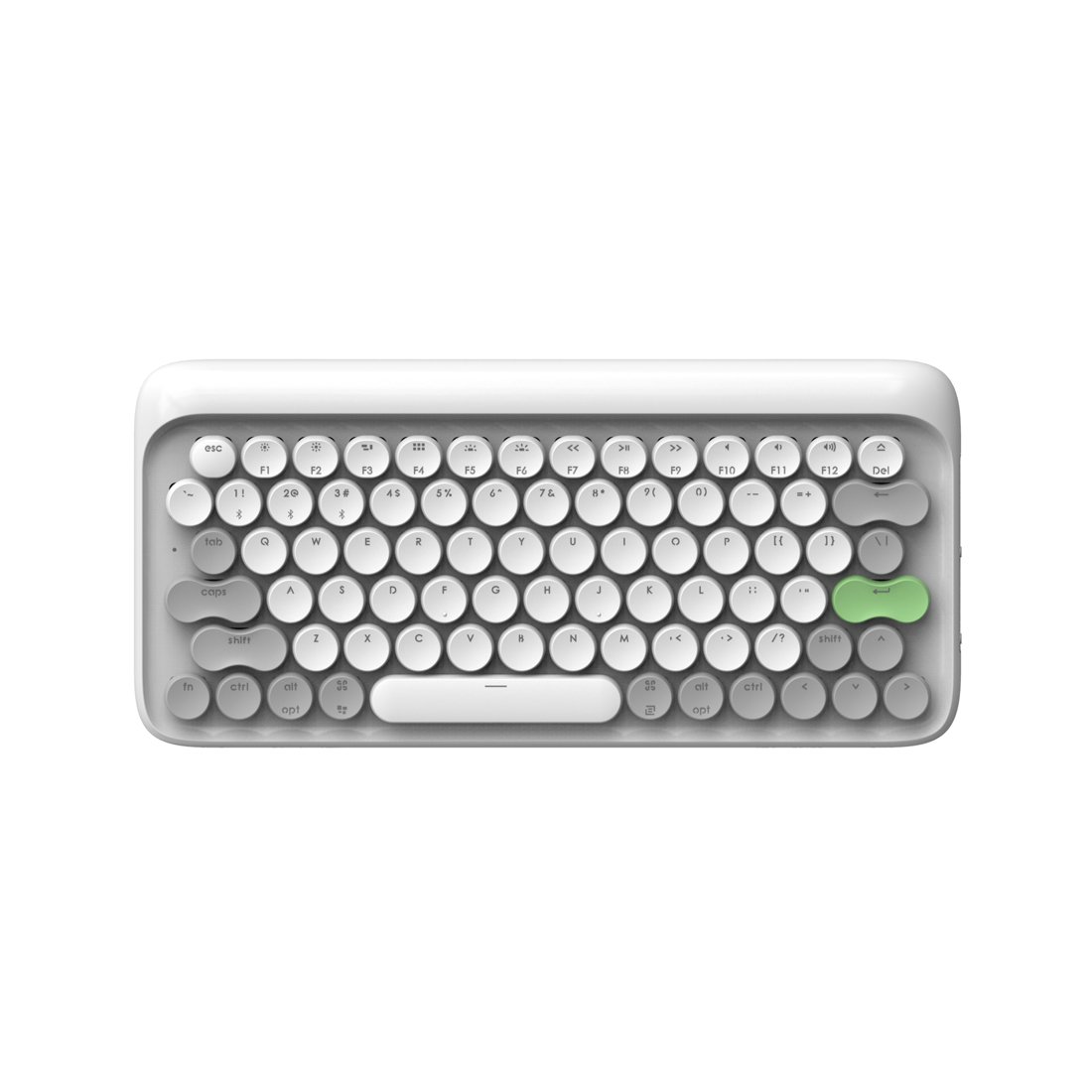 Bluetooth Wireless Mechanical Keyboard, LOFREE Four Seasons Mac Mechanical Keyboard with Gateron Blue Switch/White LED Backlit/Rechargeable Battery,Vintage Retro Keyboard for MacOS,iOS,Windows,Android