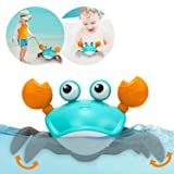 Amphibious Baby Toys, Beach Crab Bath Toys & Pull Toys for Toddlers 1-3, Clockwork Bathtub Toys for Kids,Push and Pull…