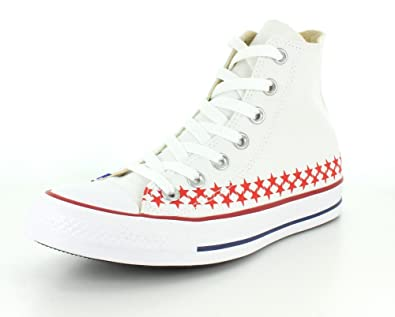 Converse Unisex Chuck Taylor All Star Americana White/Blue Sneaker - 3 Men  - 5
