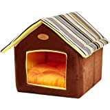 ShellKingdom Dog House, Foldable Pet Cat and Dog Bed with Cushion Pet Puppy Indoor House
