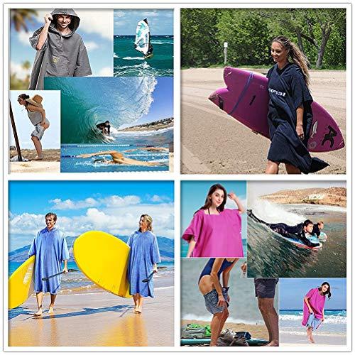 Prov Con Surf Tasca Corta Mutevoli Accappatoio Poncho Telo Manica Vestiti Oversize Mare Nuoto Accappatoi Muta Up Bagno Microfibra Cappuccio C1 A Rapida Cover Asciugatura Da Ag6dWdq5w1