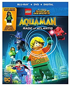Cover Image for 'Lego DC Comics Super Heroes: Aquaman - Rage of Atlantis [Blu-ray + DVD + Digital]'