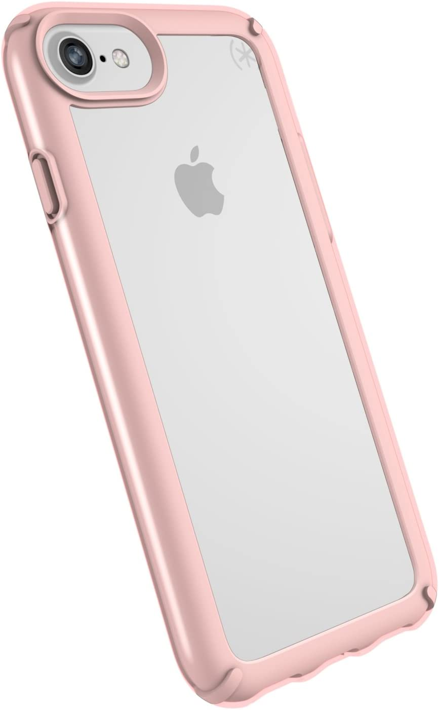 Speck iPhone SE 2020 Case/iPhone 8 Presidio Show Case, Show Off Your Phone and Stay Protected with IMPACTIUM 10-Feet Drop Protection, Clear/Rose Gold