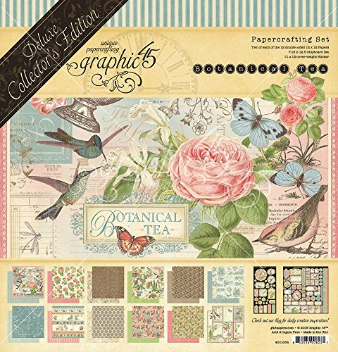 Scrapbook Embellishments Free - Graphic 45 Deluxe Collector's Edition Botanical Tea-DCE