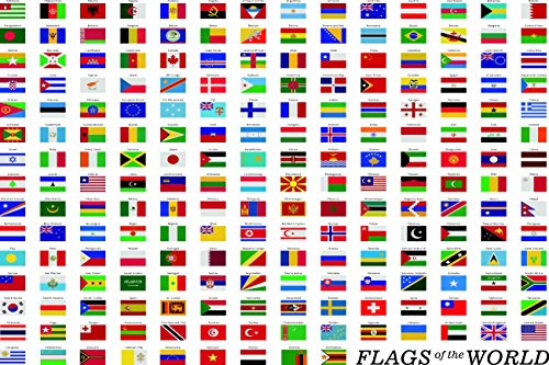 flags of the world poster - 5