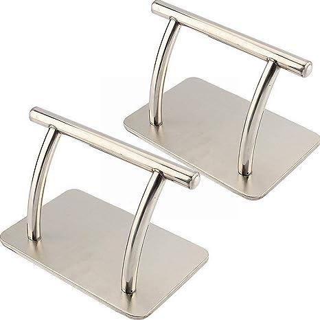 EBTOOLS 2Pcs Reposapiés de Acero Inoxidable Pedal de Salon de Belleza Peluquería Silla Reposapiés Equipo
