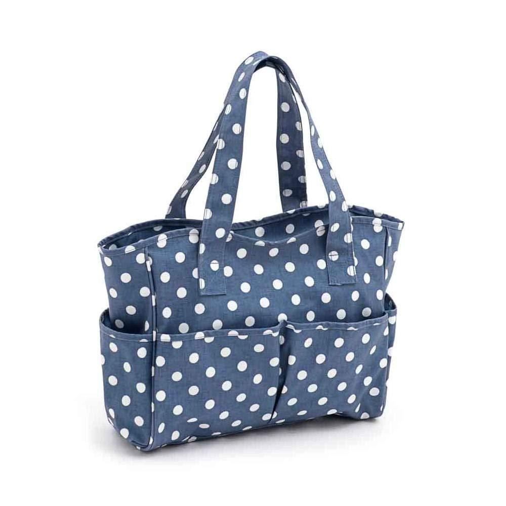 Hobby Gift 'Denim Polka Dot' Matt PVC Craft Bag 12.5 x 39 x 35cm (d/w/h) 4337015830