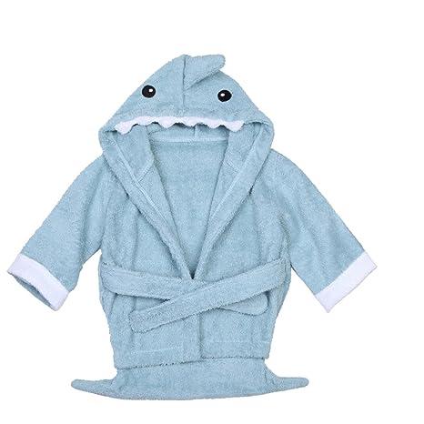Chinatere ES03 Toalla para bebé con capucha diseño de animales tiburón lindo bebé niño