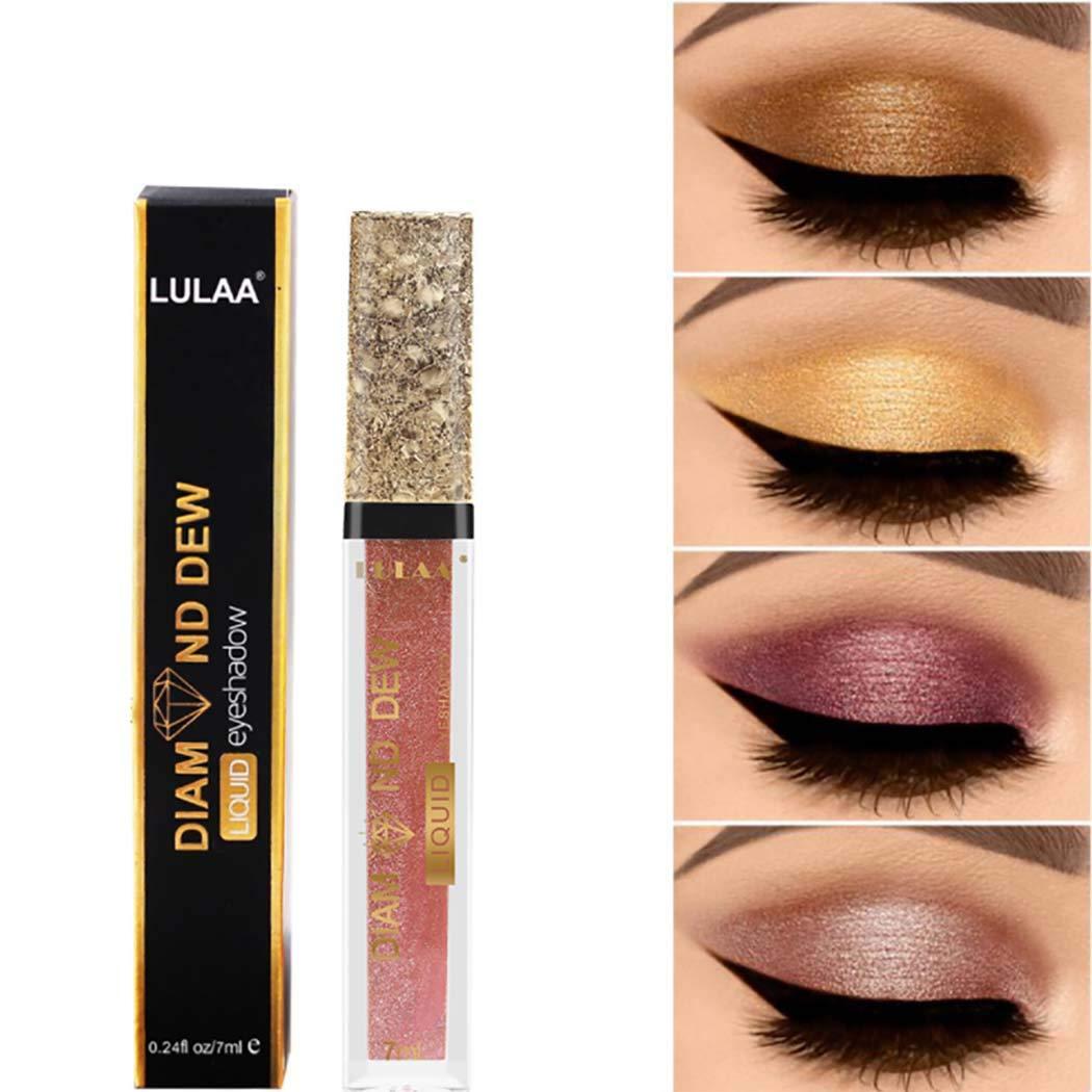 Kisshine Liquid Eyeshadow Party Shimmer Eyeshadows Long Lasting Waterproof Liquid Shiny Eye Makeup Gift For Women and Girls Pack of 1 (Pink 07#)