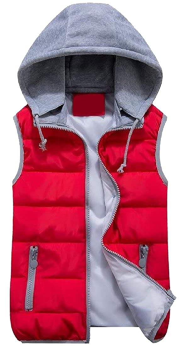 Abetteric Womens Premium Plus Size Western Thickened Full Zip Vest Coat