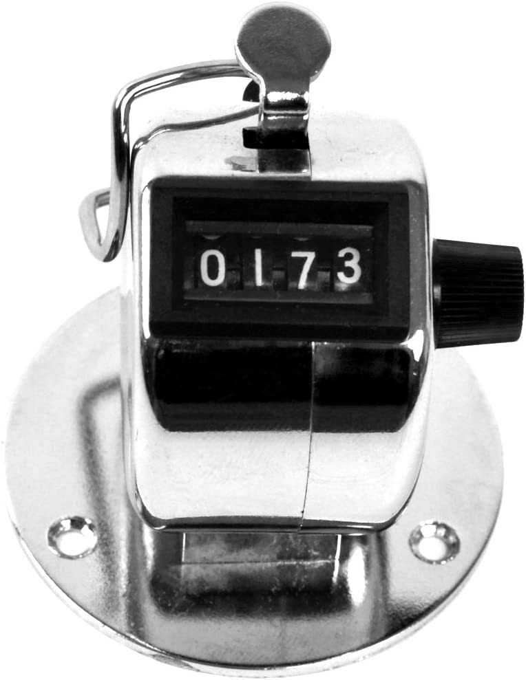 Stalwart 75-COUNTER Hawk Tally Counter Clicker, Handheld or Base Mount